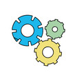 color gear industry engineering process vector image vector image