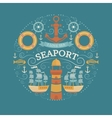 Concept with sea symbols vector image vector image