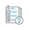 conducting a survey thin line stroke icon vector image
