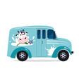 dairy milk delivery service vector image