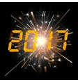 Digital numbers 2017 year time vector image vector image
