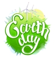 Earth Day Green Earth and wind energy Earth Day vector image