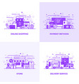 flat line purple designed concepts 14 vector image vector image