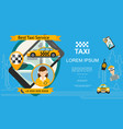 flat taxi order service template vector image vector image