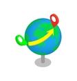flight around world 3d isometric icon vector image