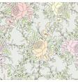 flower roses floral seamless background flower vector image
