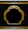 golden ornament on black background vector image