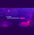 gradient fluid background design layout for banner vector image