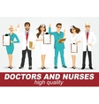 group of doctors and nurses set vector image vector image