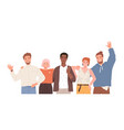 group portrait diverse happy young people vector image vector image