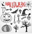 halloween doodle sketches hand drawn holiday icon vector image vector image