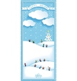 Happy holidays nature landscape vertical banner vector image