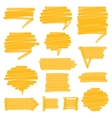 Highlighter Shaded Speech Bubbles Design Elements vector image vector image