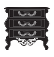 Imperial Baroque chest table vector image