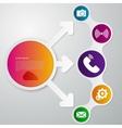 infographics circle arrow vector image
