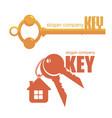 keys logo vector image