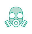 laboratory mask isolated icon vector image vector image