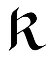 letter r painted brush vector image vector image