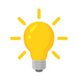 light bulb with concept vector image vector image