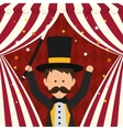 Magician icon Circus and Carnival design vector image vector image