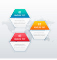 modern three steps infograph template design vector image vector image