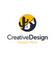 mountain desert landscaping logo vector image vector image