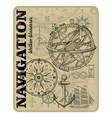 navigation maritime design nautical design vector image