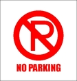 NO PARKING vector image