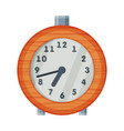old fashioned alarm clock time measuring vector image