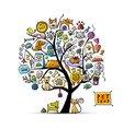 pet shop art tree for your design vector image vector image