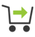 purchase cart halftone icon vector image
