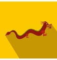 Red chinese dragon icon flat style vector image vector image