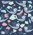 scandinavian birdie pattern design vector image vector image