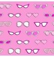 Seamless pattern women fashion sunglasses vector image vector image