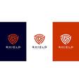 security shield logo premium vector image vector image