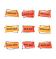 set isolated tags for clearance sale vector image