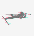 shooting from prone positions in biathlon vector image