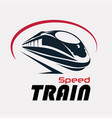 speed train logo template stylized symbol vector image