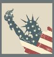 statue liberty symbol new york city vector image