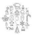 stuff icons set outline style vector image vector image