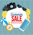 summer sale set icons vector image
