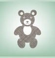 teddy bear sign brown flax vector image vector image