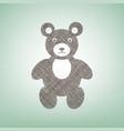 teddy bear sign brown flax vector image