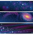 three space backgrounds vector image vector image