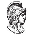 warrior head was frequently found on medallions vector image vector image