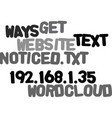 ways to get your website noticed text word cloud vector image vector image