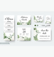 Wedding cards floral design rsvp menu cards set