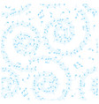 white and blue background with spiral - seamless vector image vector image