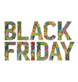 word black friday decorative zentangle vector image