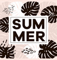 word slogan summer in a square white vector image